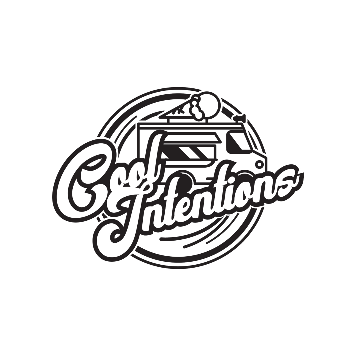 Cool Intentions Logo, Vehicle Wrap, and Website
